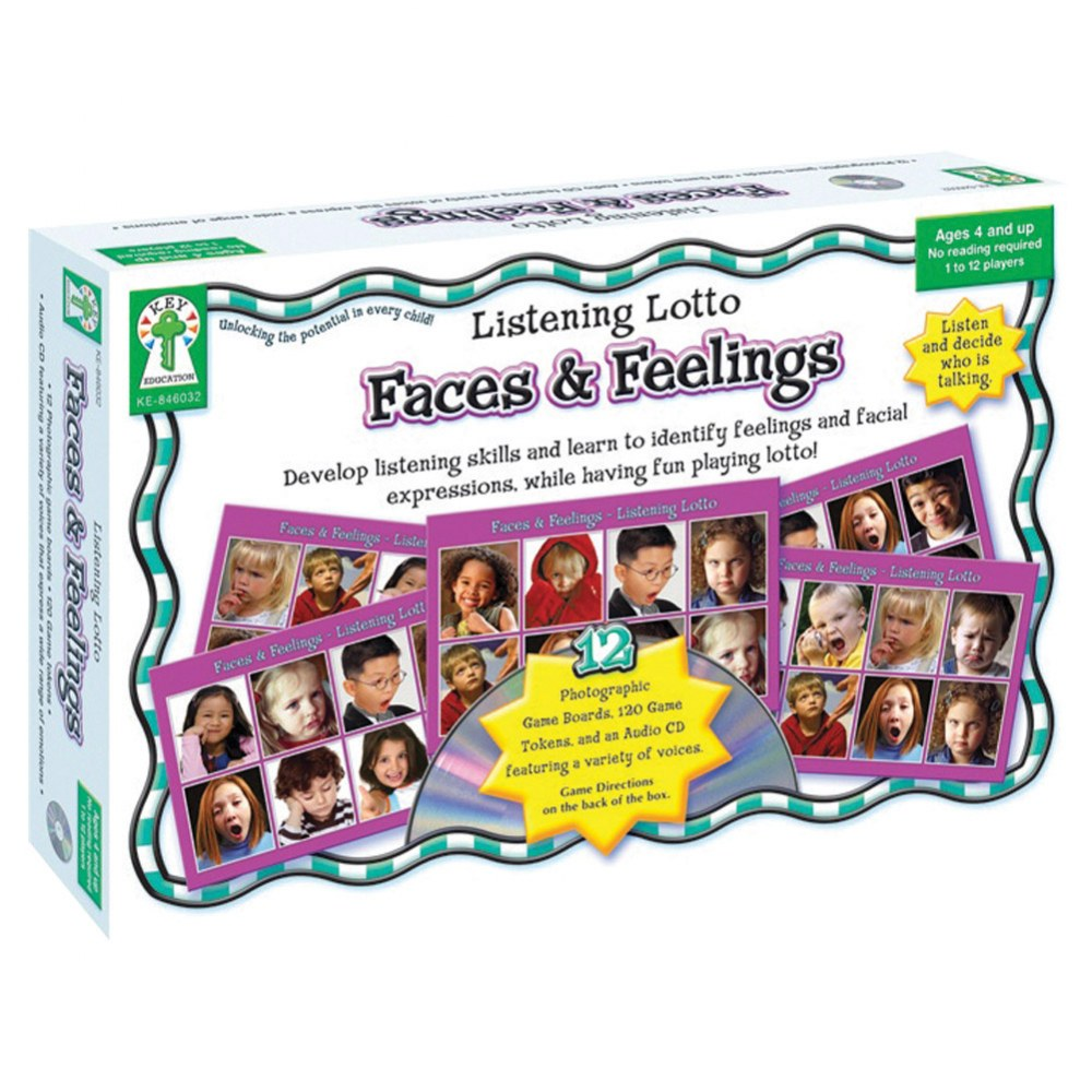 Listening Lotto: Faces & Feelings Board Game