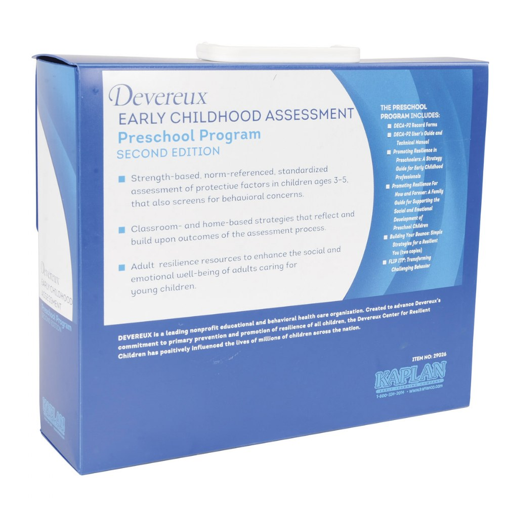 Alternate Image #6 of Devereux Early Childhood Assessment for Preschool, 2nd Edition (DECA-P2) Kit