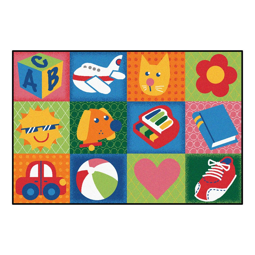 Toddler Fun Squares KID$ Value Rugs