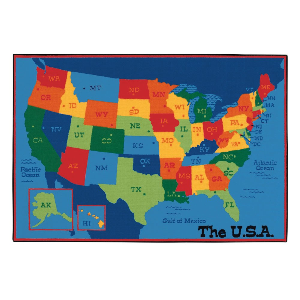 Alternate Image #1 of USA Map KID$ Value PLUS Rugs