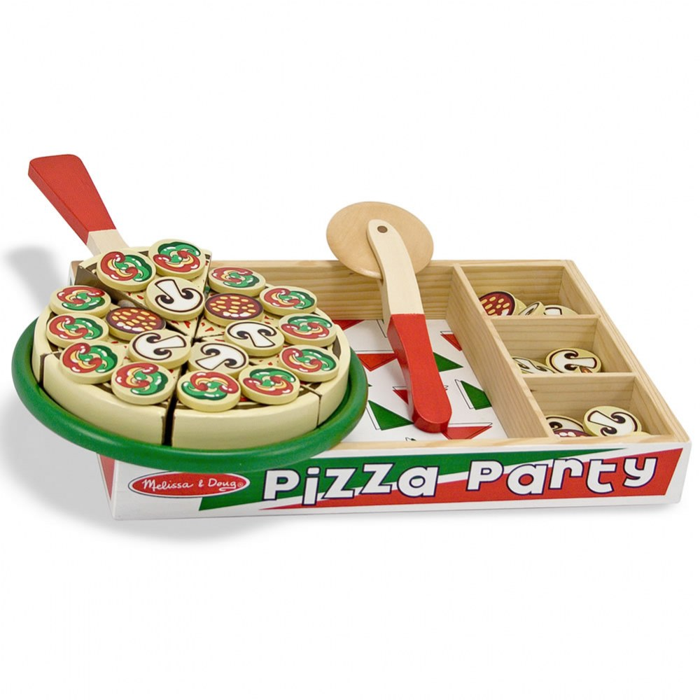 Alternate Image #3 of Wooden Pizza Party Set