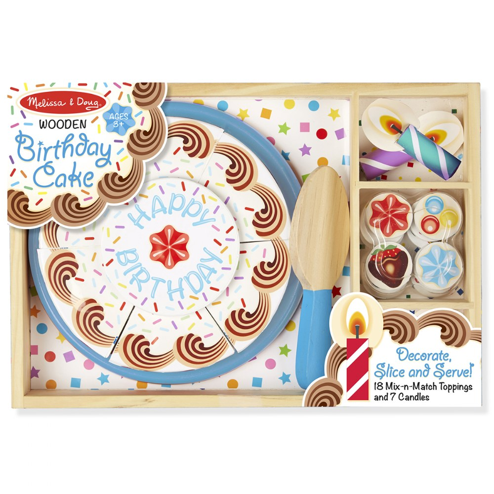 Alternate Image #5 of Wooden Birthday Party Cake Set