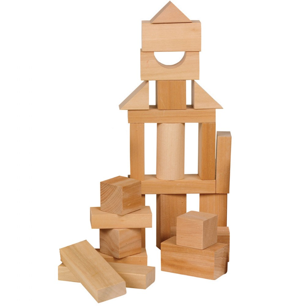 Alternate Image #1 of Toddler Wooden Blocks in Assorted Shapes