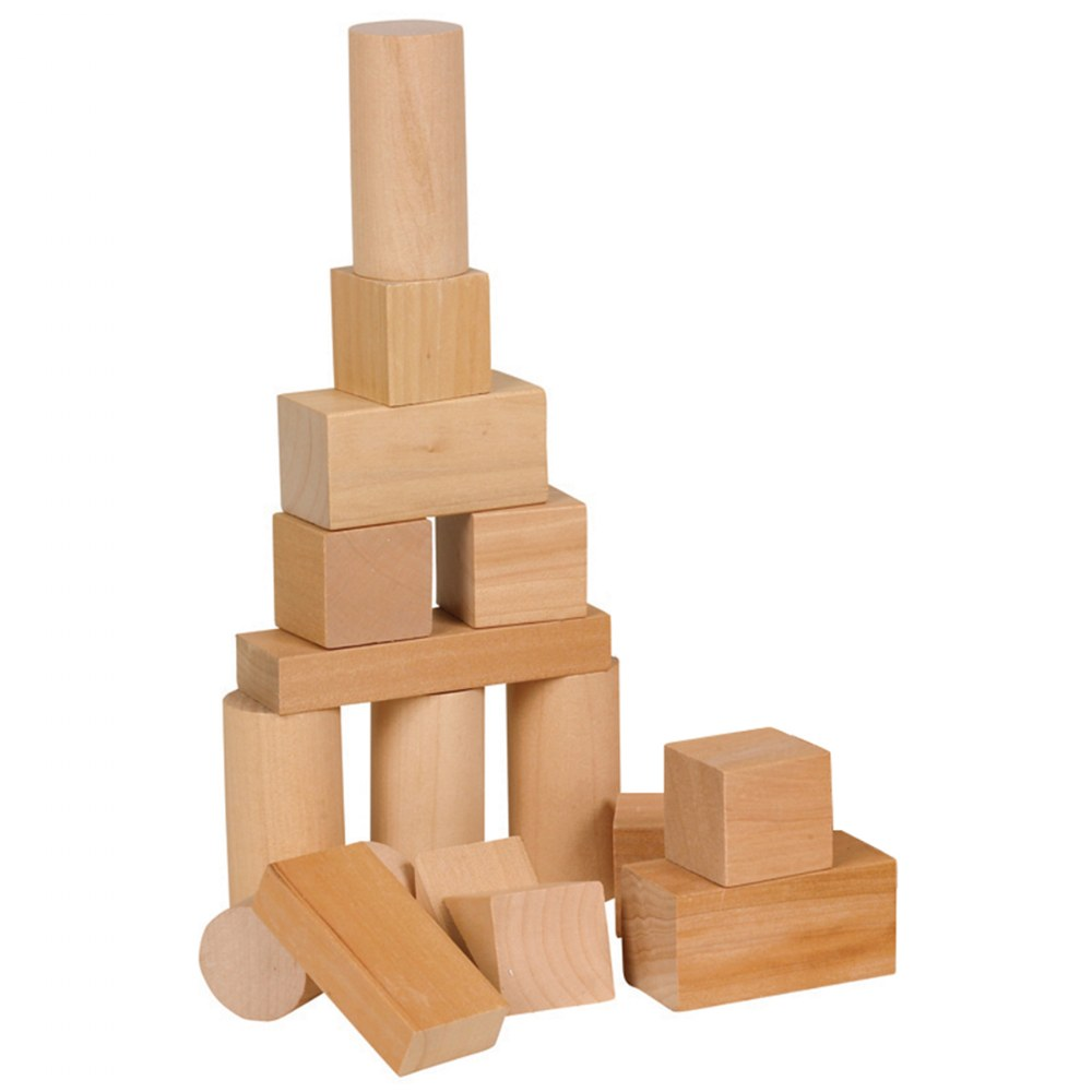 Alternate Image #2 of Toddler Wooden Blocks in Assorted Shapes