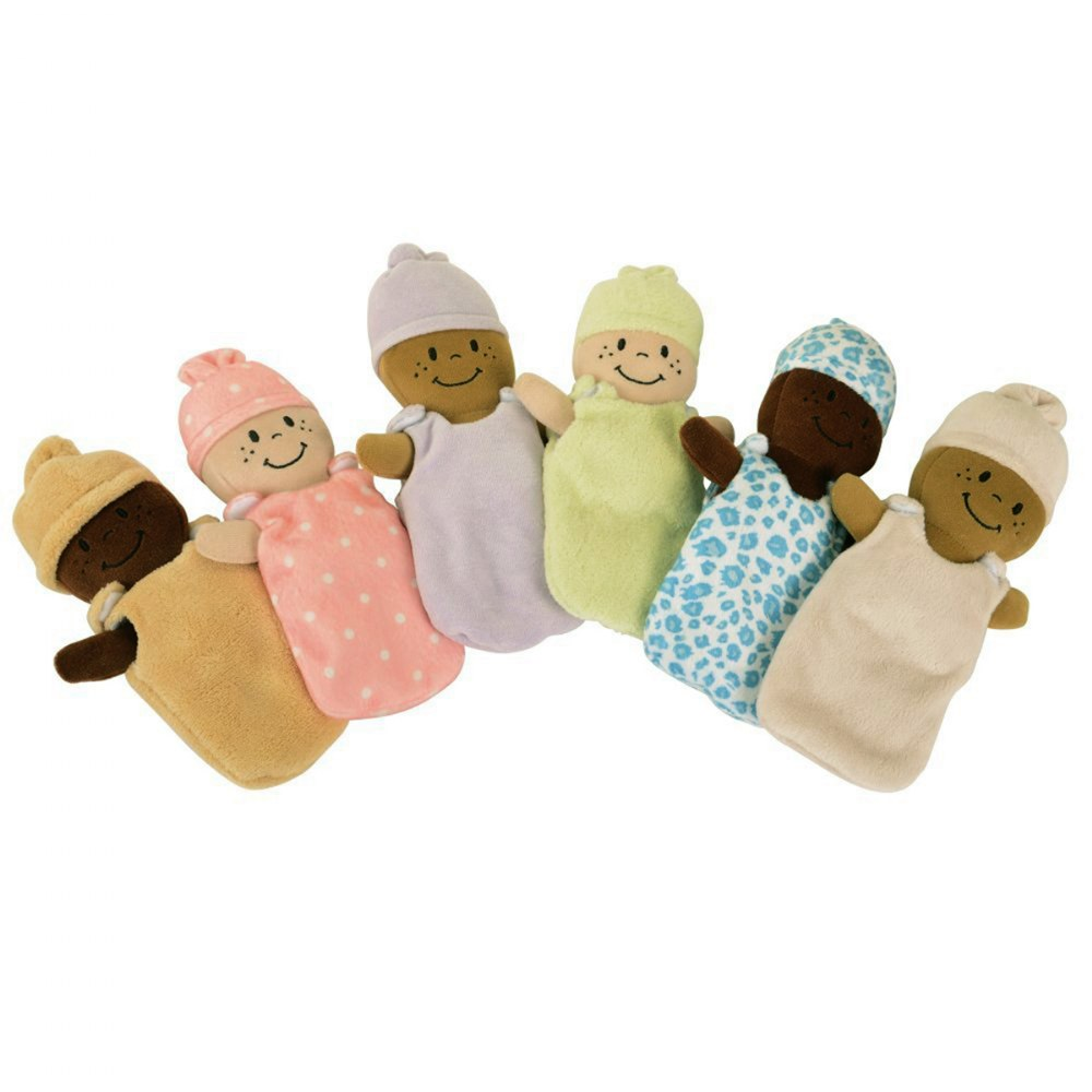 Alternate Image #1 of Basket of Soft Babies with Removable Sack Dresses