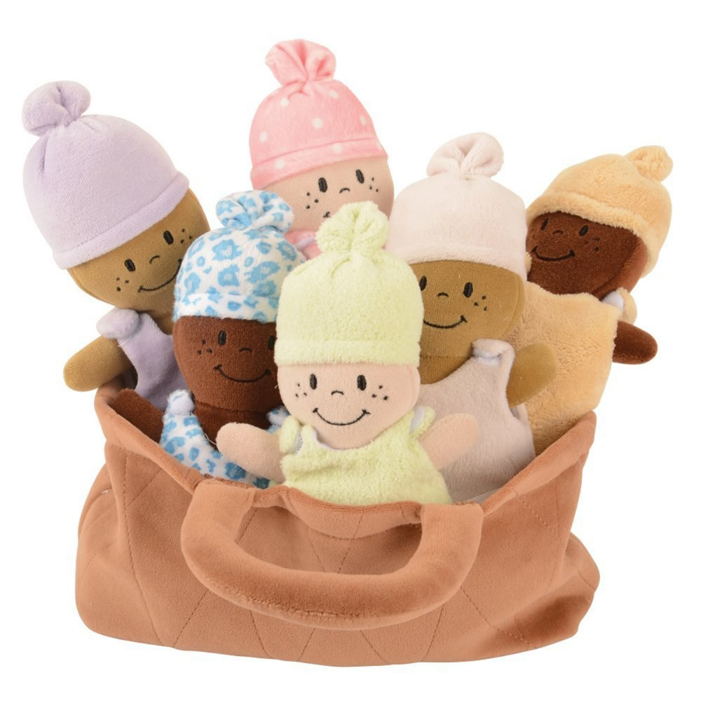 Alternate Image #2 of Basket of Soft Babies with Removable Sack Dresses