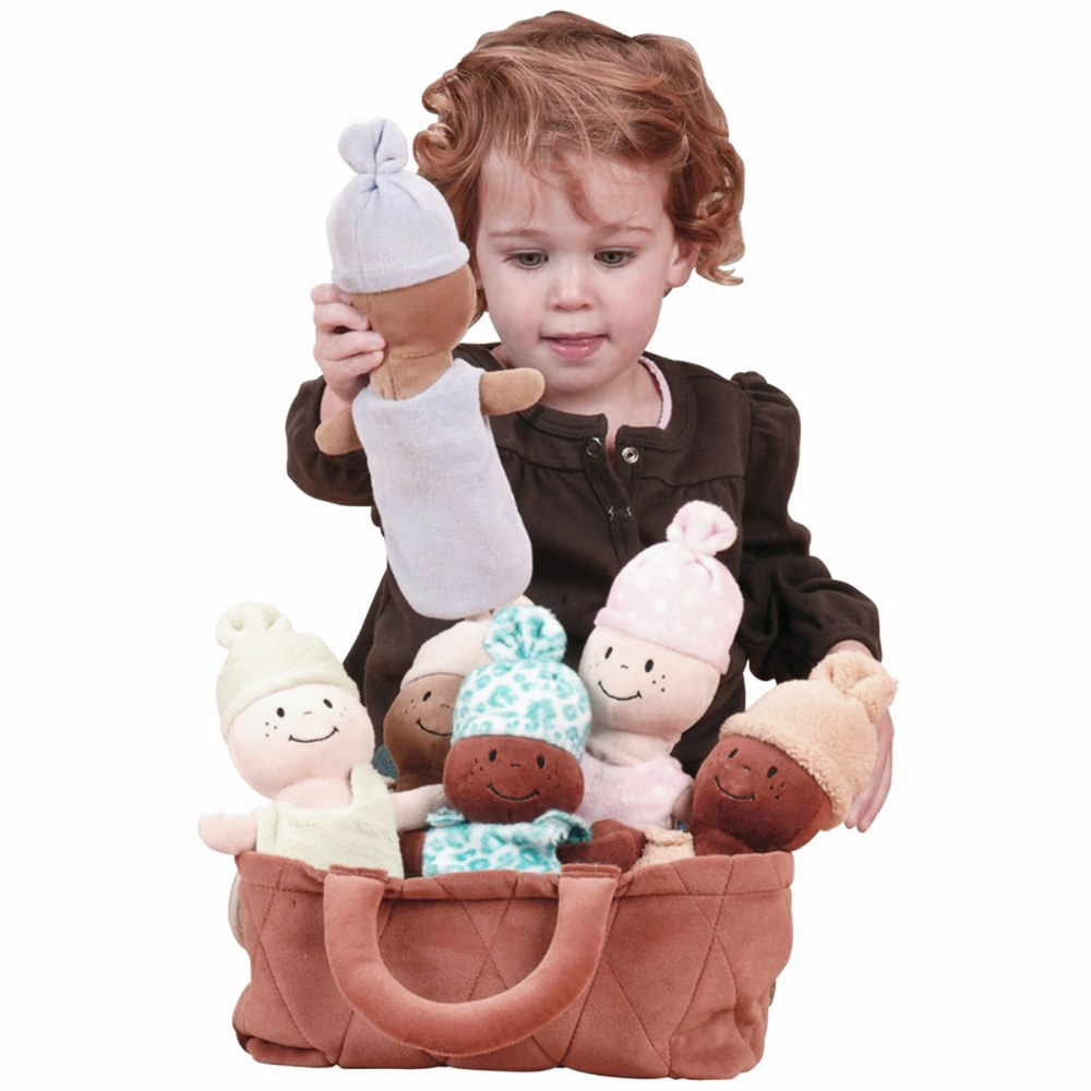 Alternate Image #3 of Basket of Soft Babies with Removable Sack Dresses