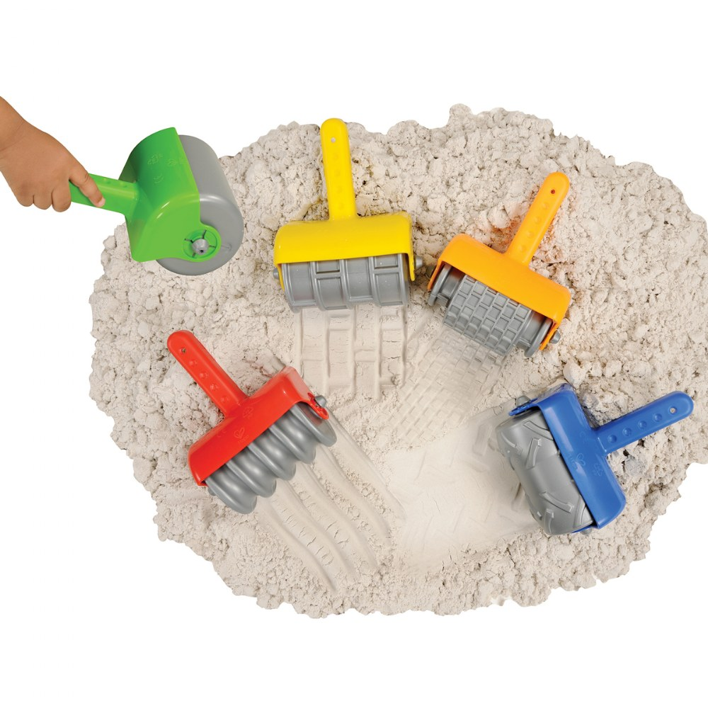 Alternate Image #1 of Jumbo Textured Sand Rollers With Toddler Hand Grip and 5 Different Patterns