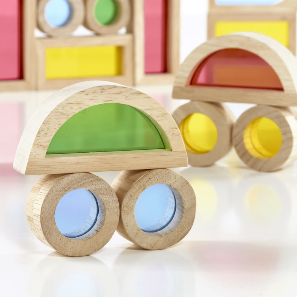 Alternate Image #4 of Junior Rainbow Blocks® Colorful Stacking Blocks - 40 Pieces