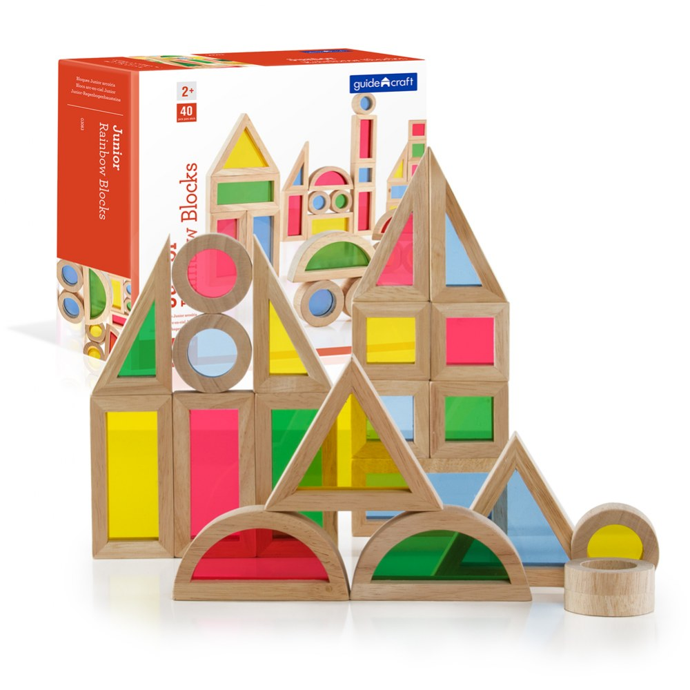 Alternate Image #5 of Junior Rainbow Blocks® Colorful Stacking Blocks - 40 Pieces