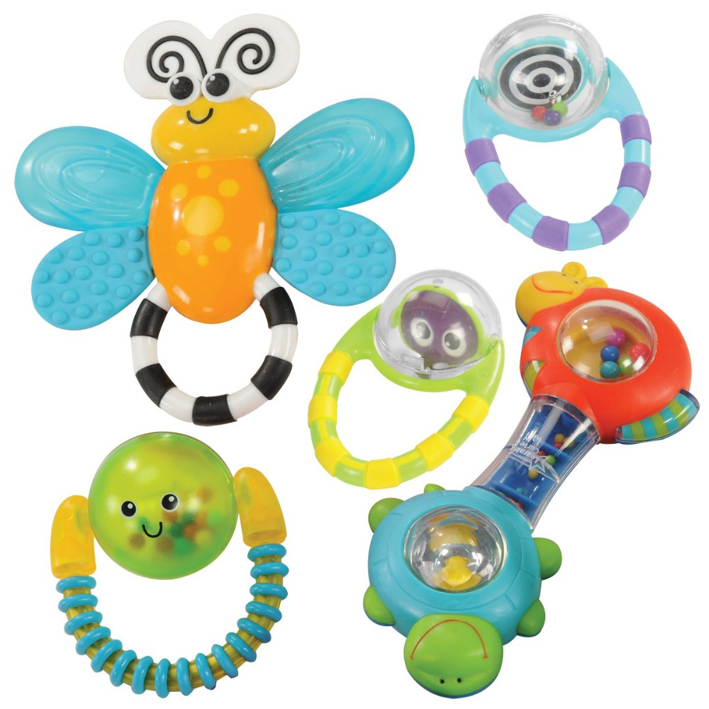 Grasp & Explore Rattle Set - Set of 5