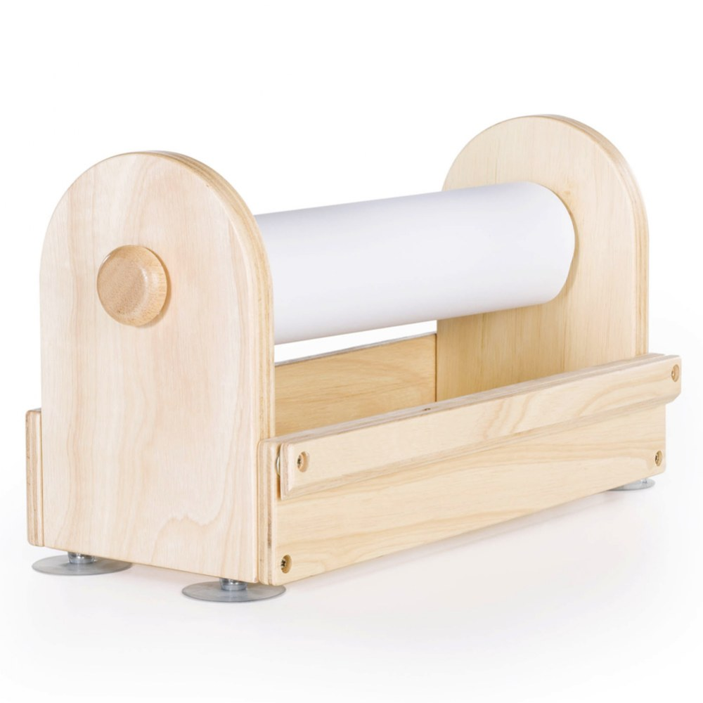 Alternate Image #1 of Wooden Tabletop Paper Center includes Paper Roll - Great for Every Craft Space