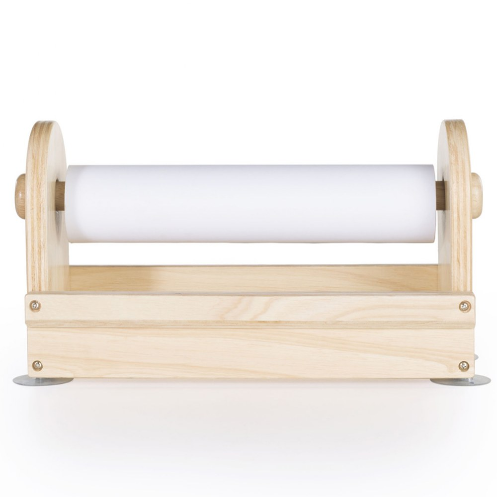 Alternate Image #2 of Wooden Tabletop Paper Center includes Paper Roll - Great for Every Craft Space