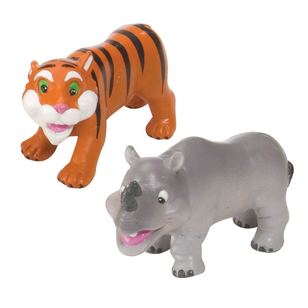 Alternate Image #3 of Soft and Squeezable Safari Animal Playset