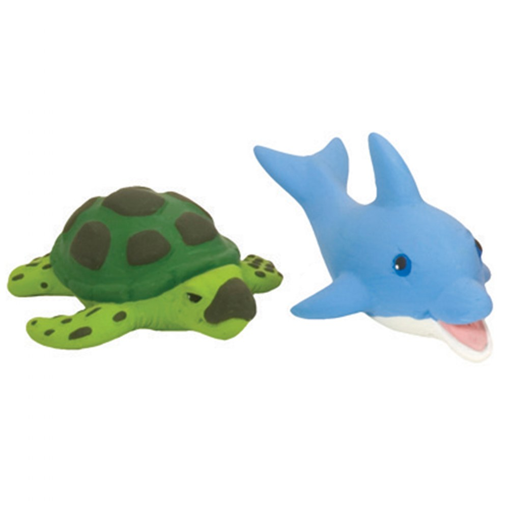 Alternate Image #1 of Soft and Squeezable Aquatic Animal Playset