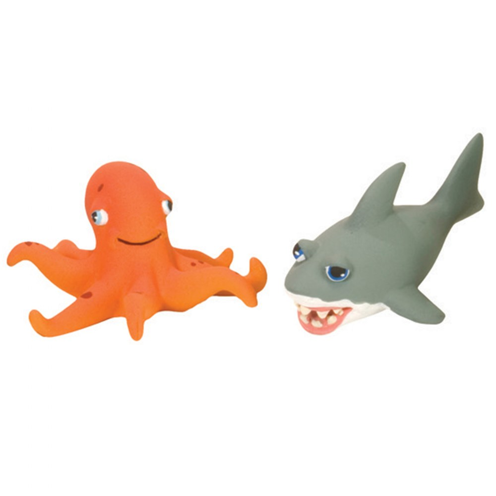Alternate Image #2 of Soft and Squeezable Aquatic Animal Playset