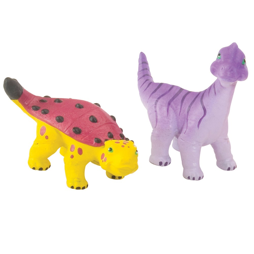 Alternate Image #1 of Soft and Squeezable Dinosaur Playset