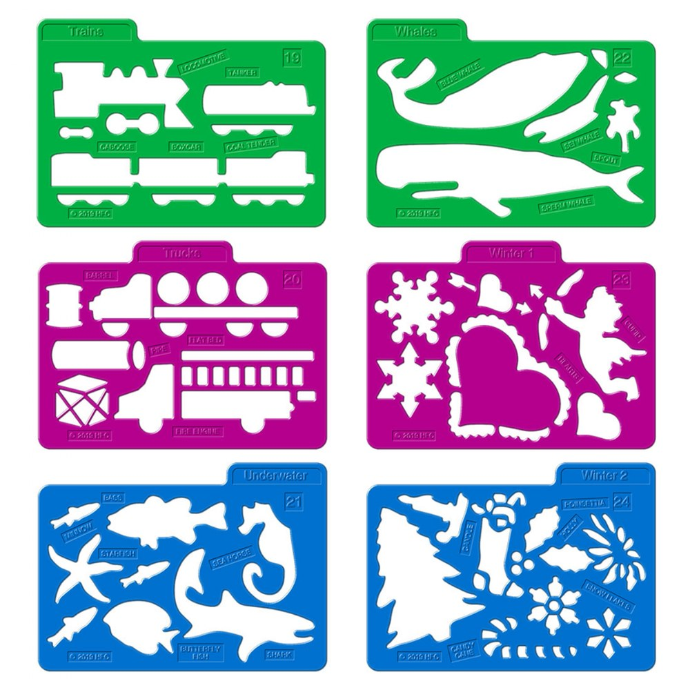 Alternate Image #5 of Stencil Mill Collection of Alphabets, Numbers, Animals, People, Transportation and more