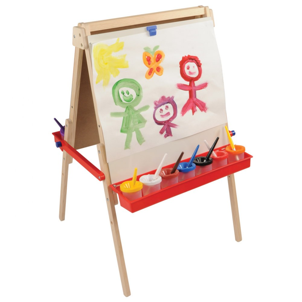 Alternate Image #1 of Floor Style Adjustable Height Art Easel