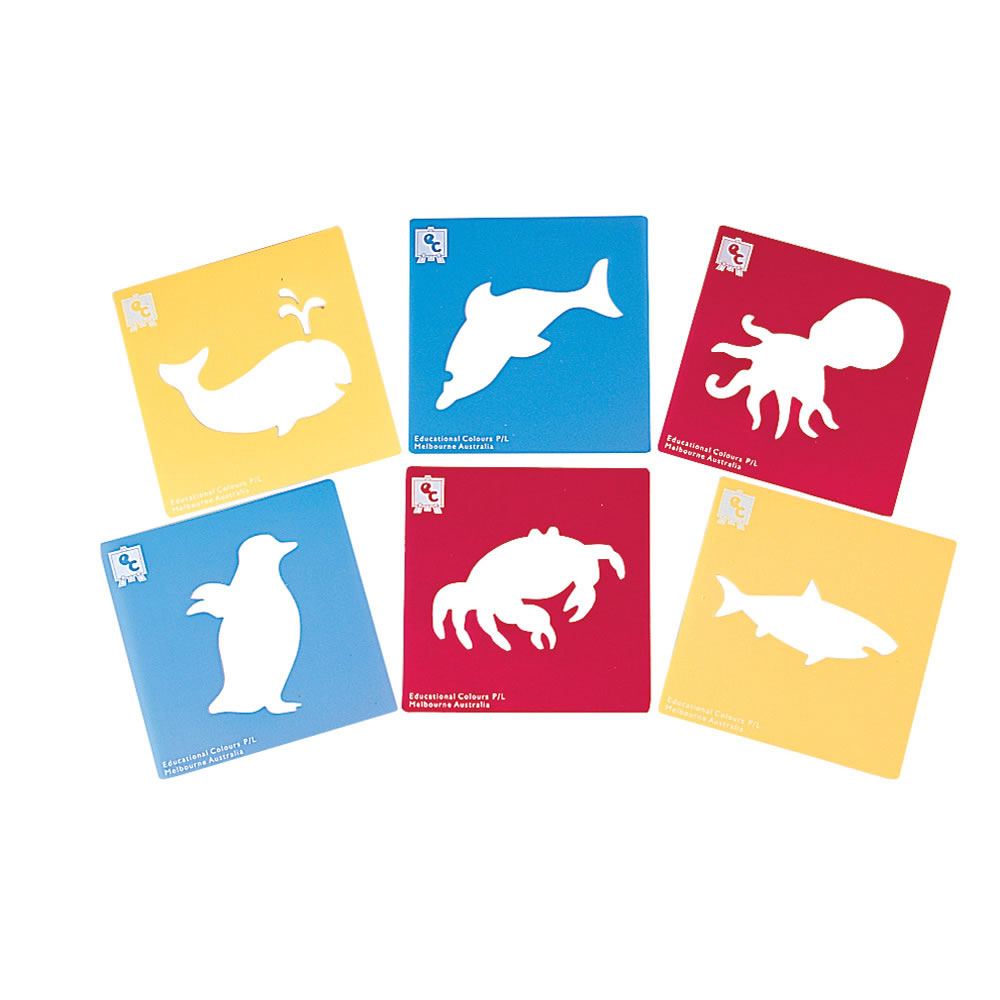 Alternate Image #3 of Life Science Stencils of Bugs and Animals - Set of 24