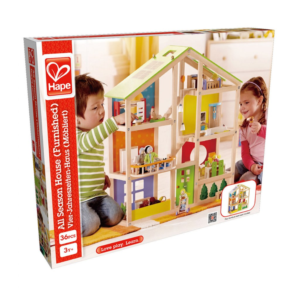 Alternate Image #4 of Seasons All-In-One Dollhouse - Furnished