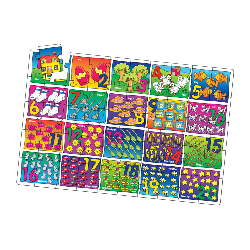 Numbers Jumbo Floor Puzzle - 50 Pieces