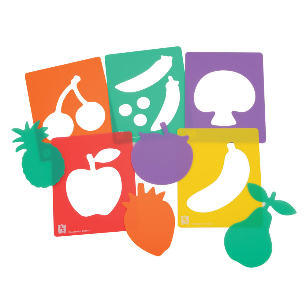 Fruit and Vegetable Stencil Set