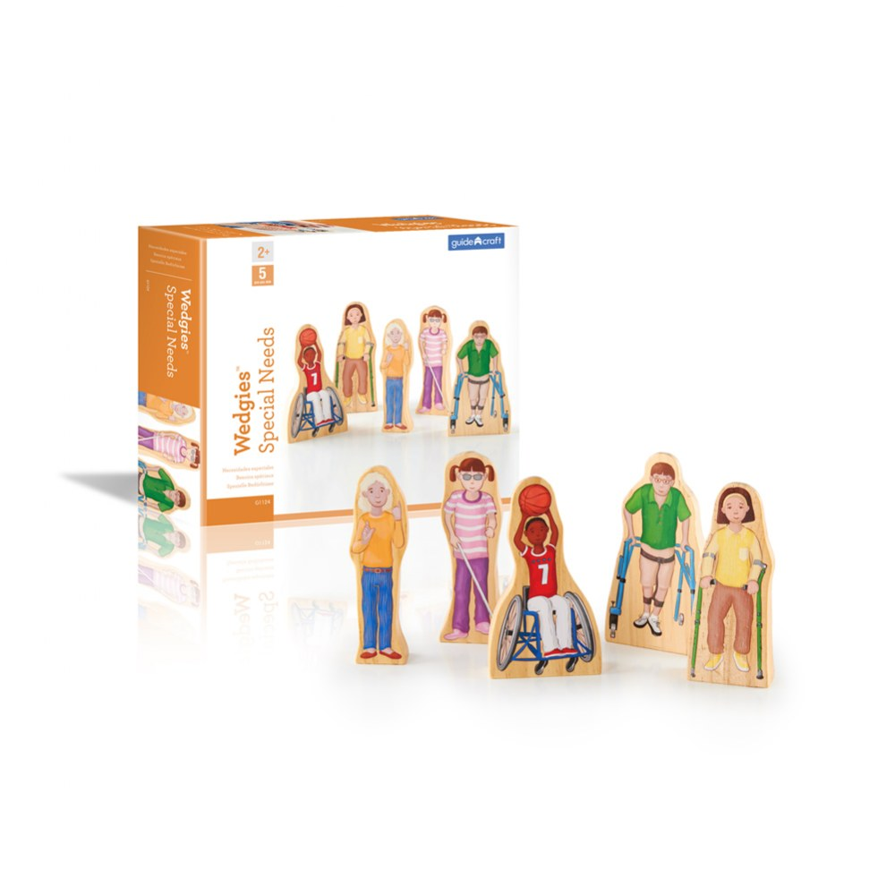 Alternate Image #2 of Wooden Wedgie Friends with Special Needs - Set of 5