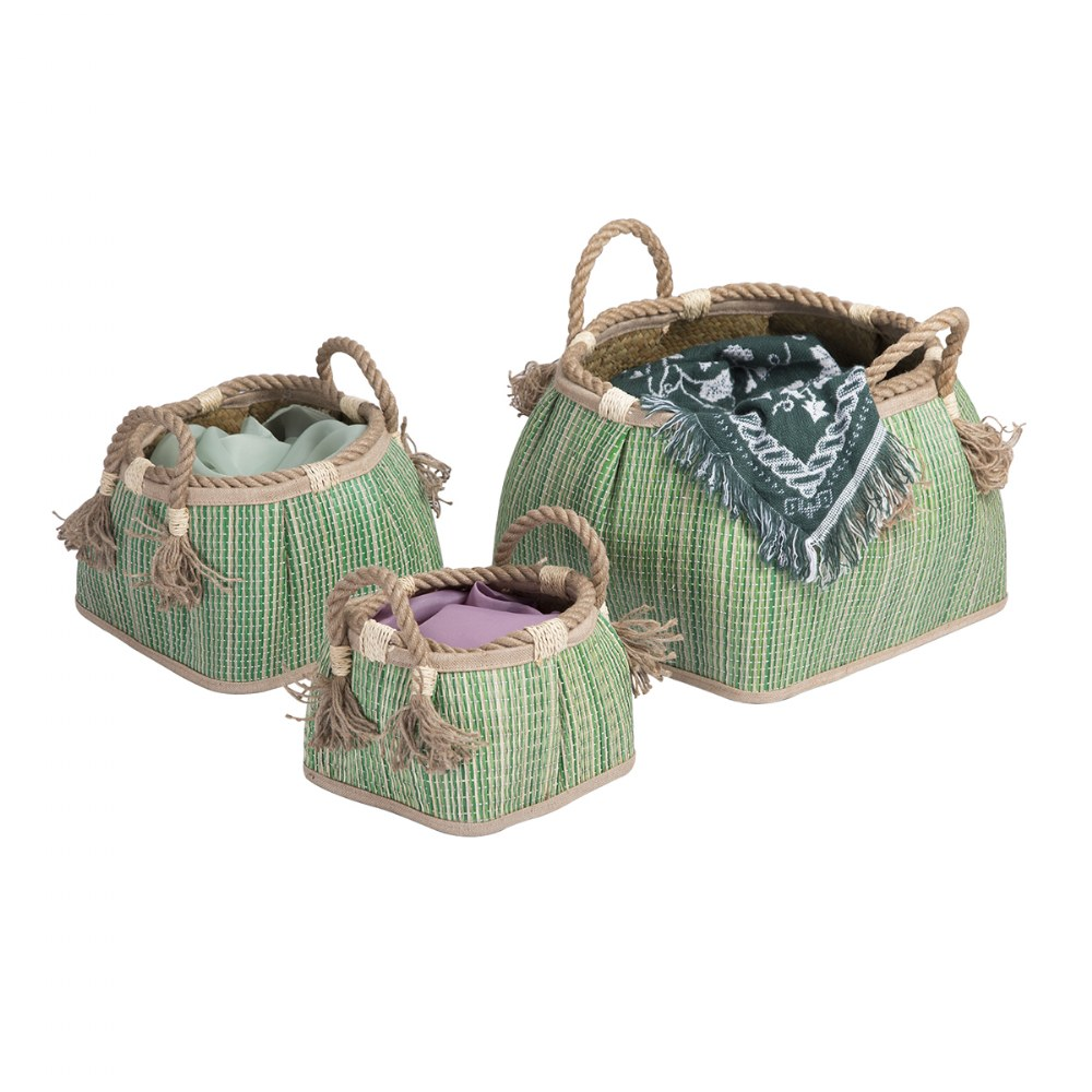 Alternate Image #1 of Sense of Place Woven Baskets - Set of 3