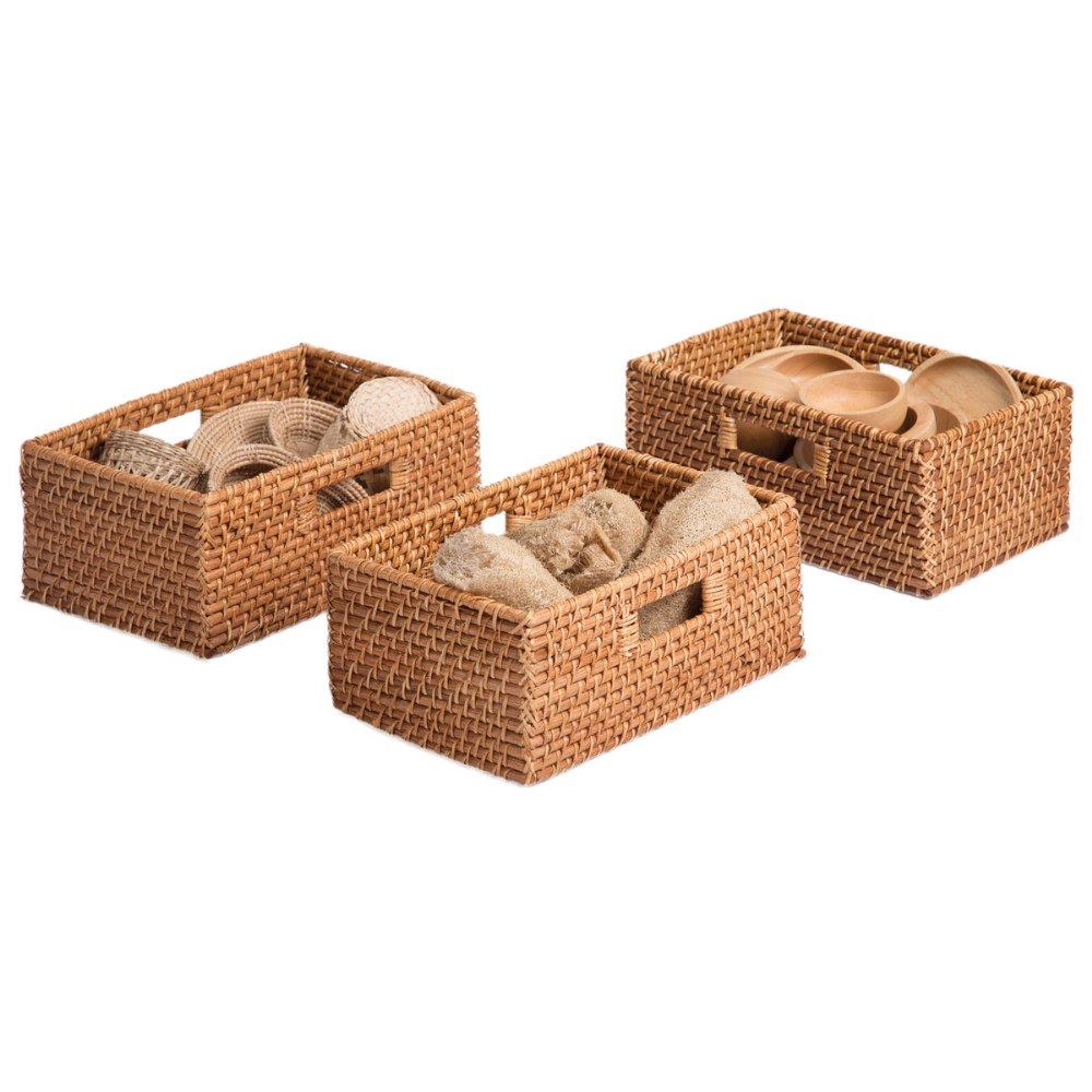 Alternate Image #1 of Sense of Place Rectangular Storage Baskets - Set of 3