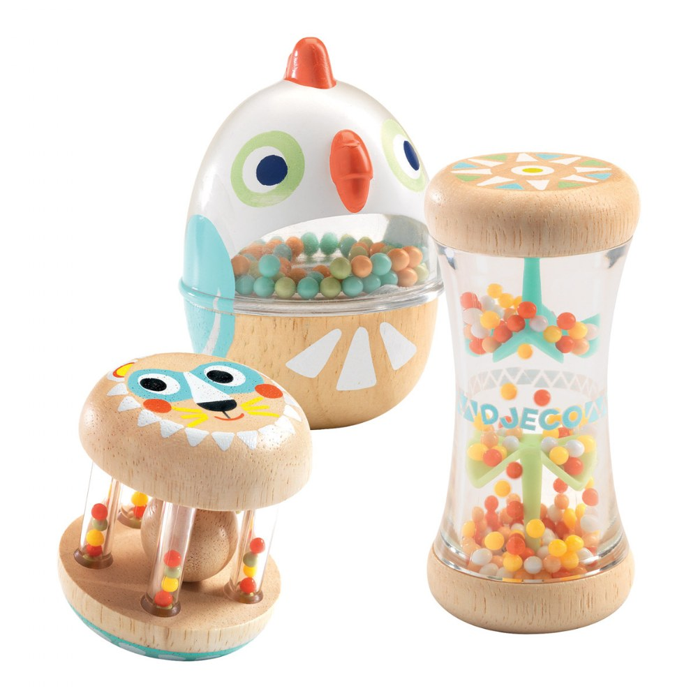 Soft Sounds Shakers for Infants Sensory Learning - Set of 3