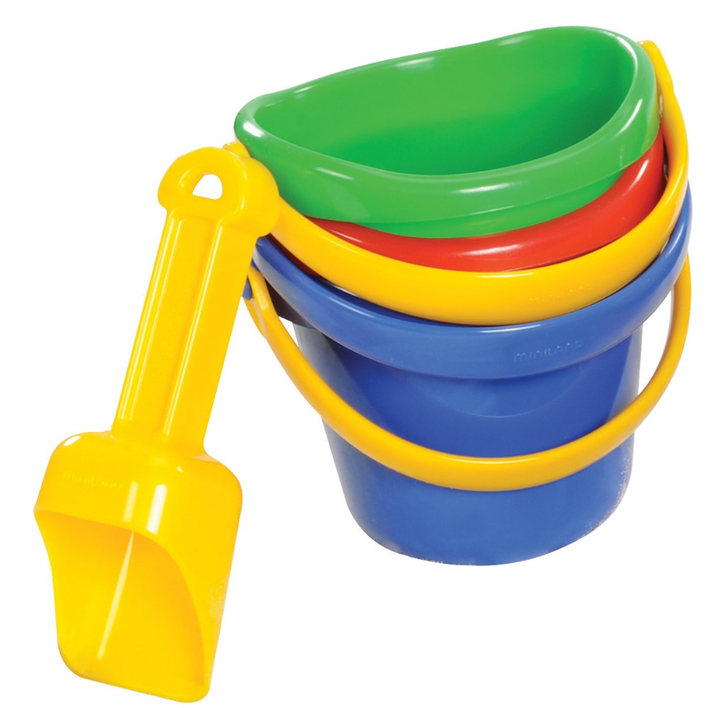 Alternate Image #1 of Mini Sand Bucket Set - 12 Pieces