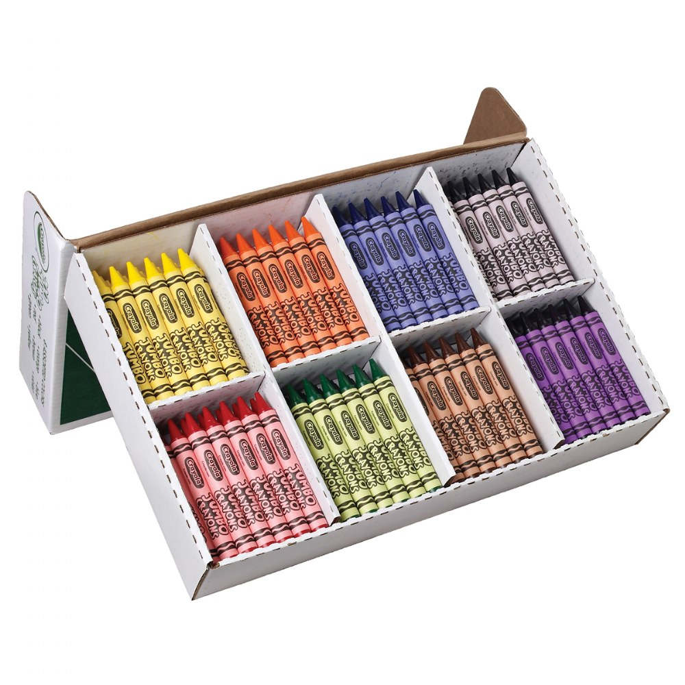 Alternate Image #2 of Crayola® Classpack Jumbo Crayons - 200 Count, 25 Each Color