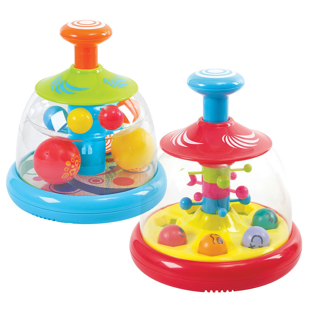 Popping and Tumbling Spinning Ball Domes - Set of 2