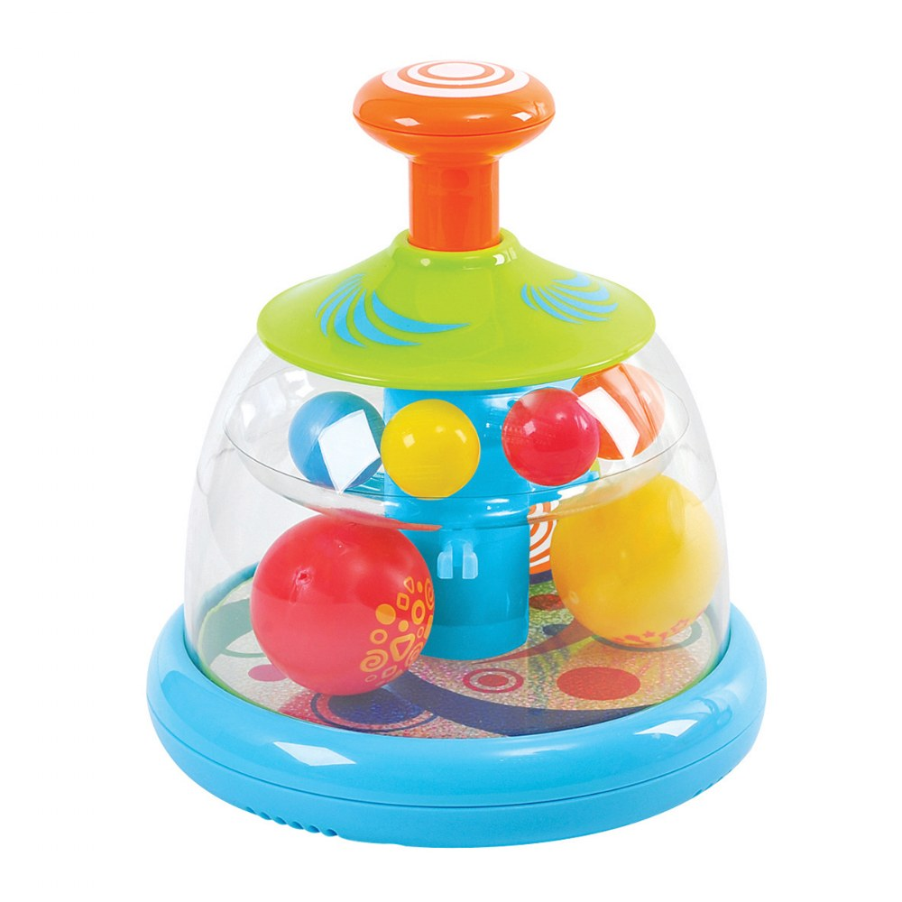 Alternate Image #1 of Popping and Tumbling Spinning Ball Domes - Set of 2