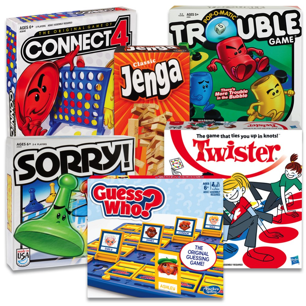 Classic Games for After School - Set of 6 Different Games