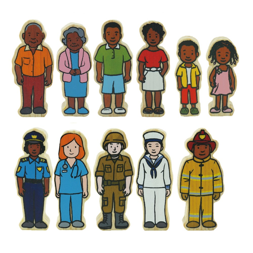 Alternate Image #3 of Wooden Village People - 42 Pieces