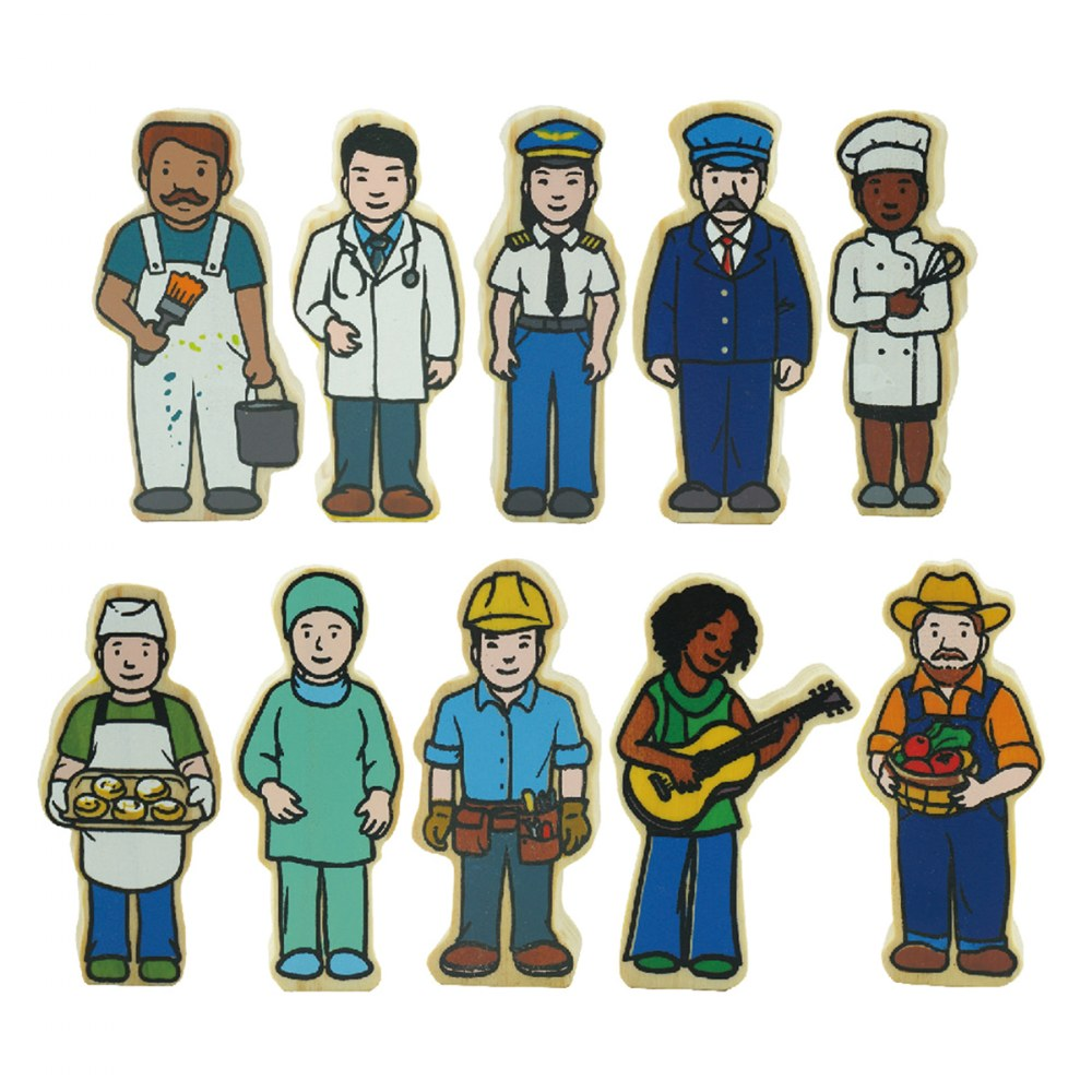 Alternate Image #5 of Wooden Village People - 42 Pieces