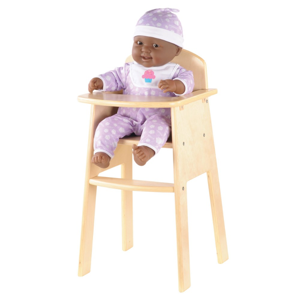 Alternate Image #1 of Wooden High Chair for Dolls