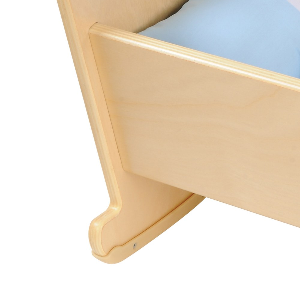 Alternate Image #2 of Wooden Doll Cradle with Pillow and Blanket Bedding