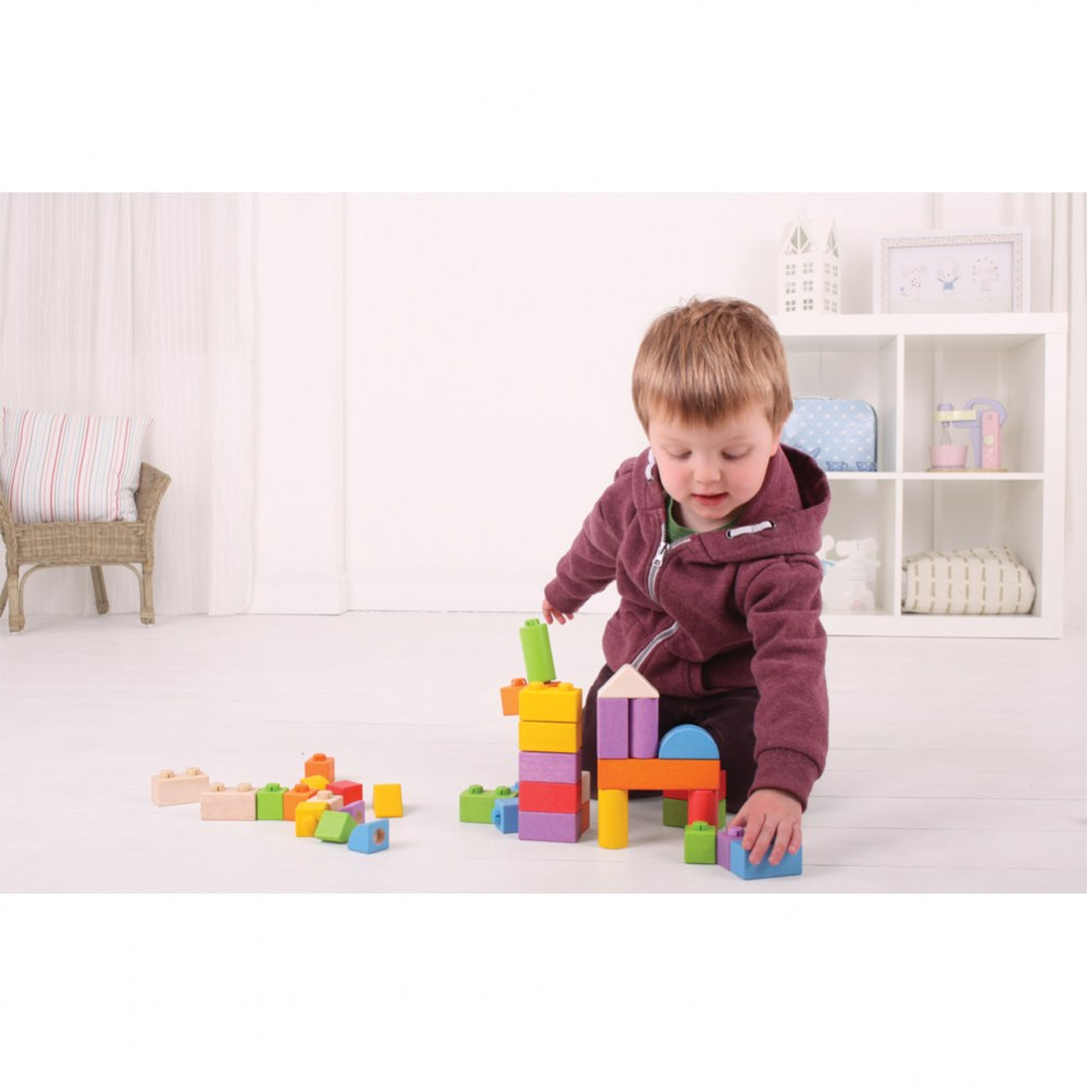 Alternate Image #1 of Click Blocks Intermediate Wooden Bricks for Toddlers