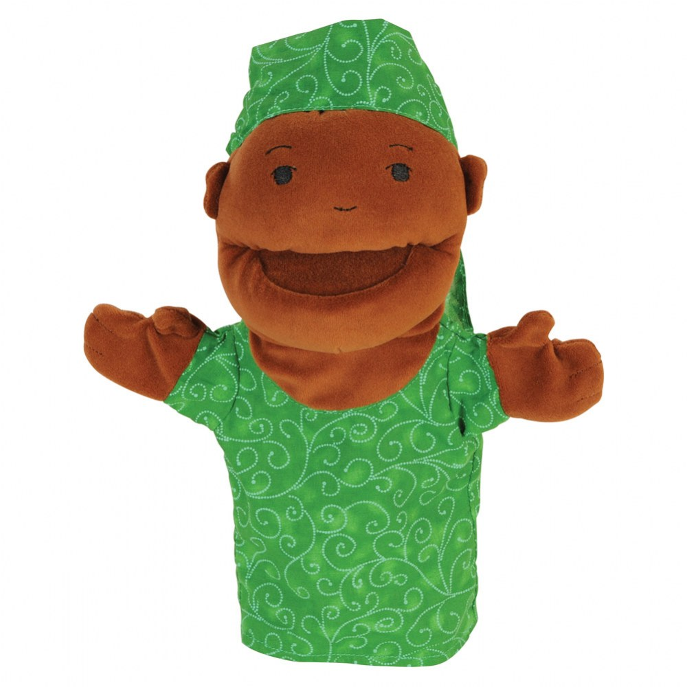 Alternate Image #1 of Diversity Hand Puppets with Movable Arms and Mouths - Set of 8