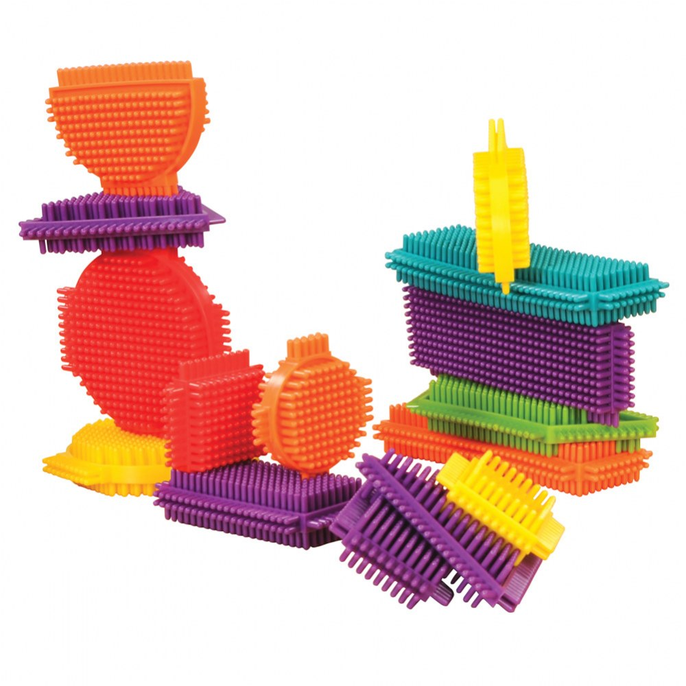 Young Brix - Colorful Shapes Soft Flexible Bristled Blocks