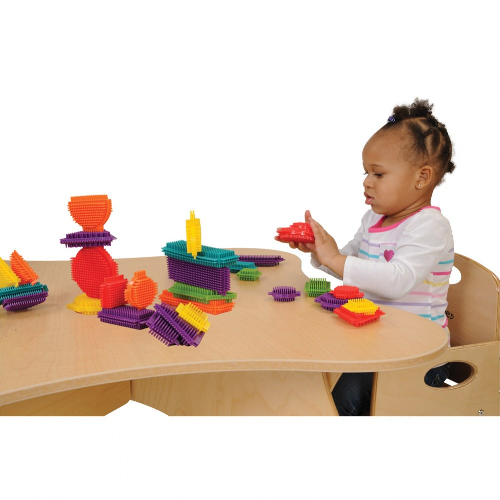 Alternate Image #1 of Young Brix - Colorful Shapes Soft Flexible Bristled Blocks