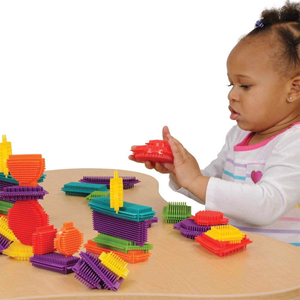 Alternate Image #2 of Young Brix - Colorful Shapes Soft Flexible Bristled Blocks