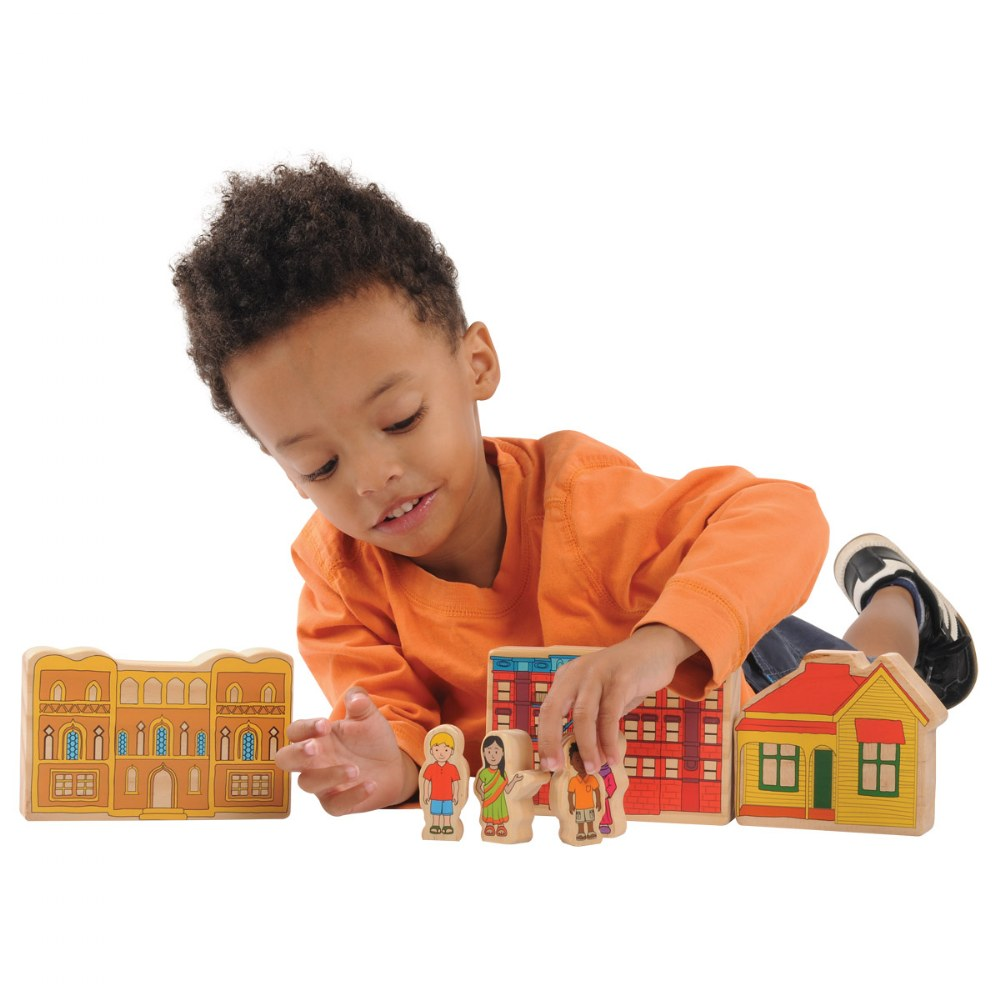 Alternate Image #1 of Homes Around the World Wooden Blocks - Set of 15