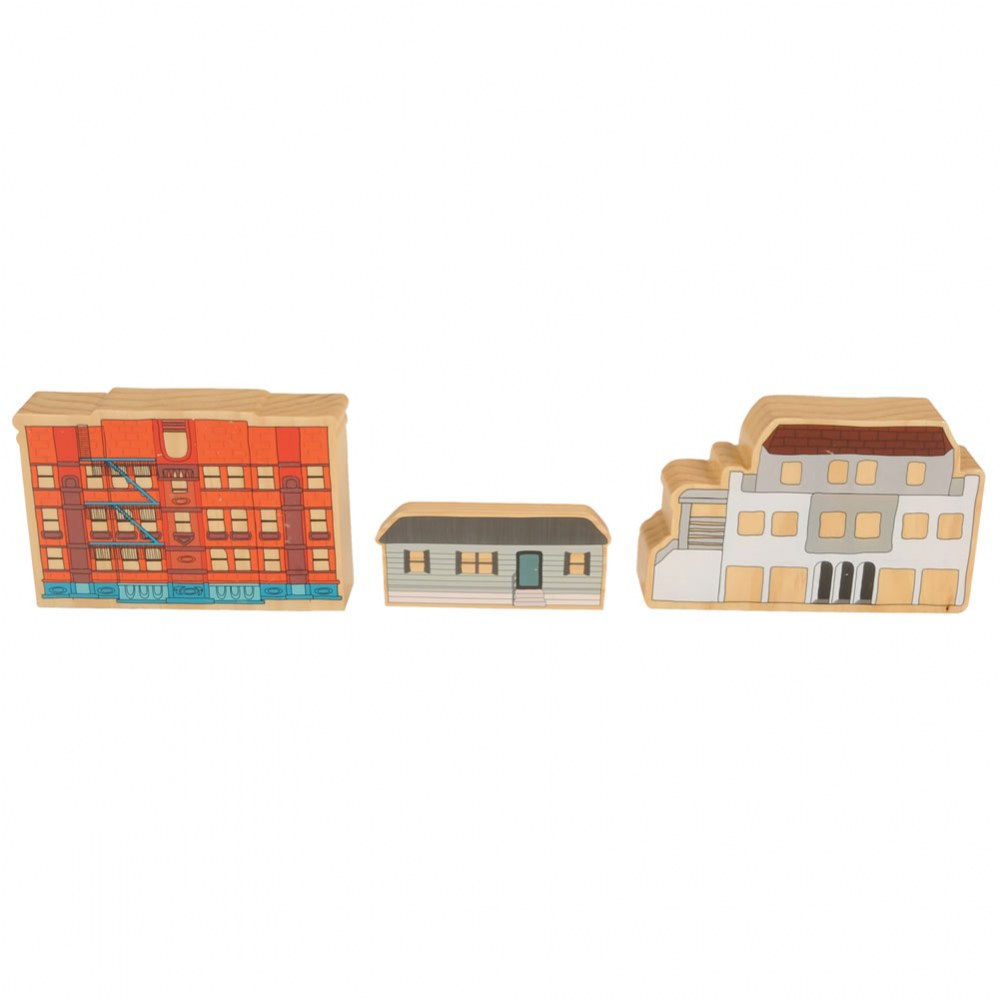 Alternate Image #3 of Homes Around the World Wooden Blocks - Set of 15