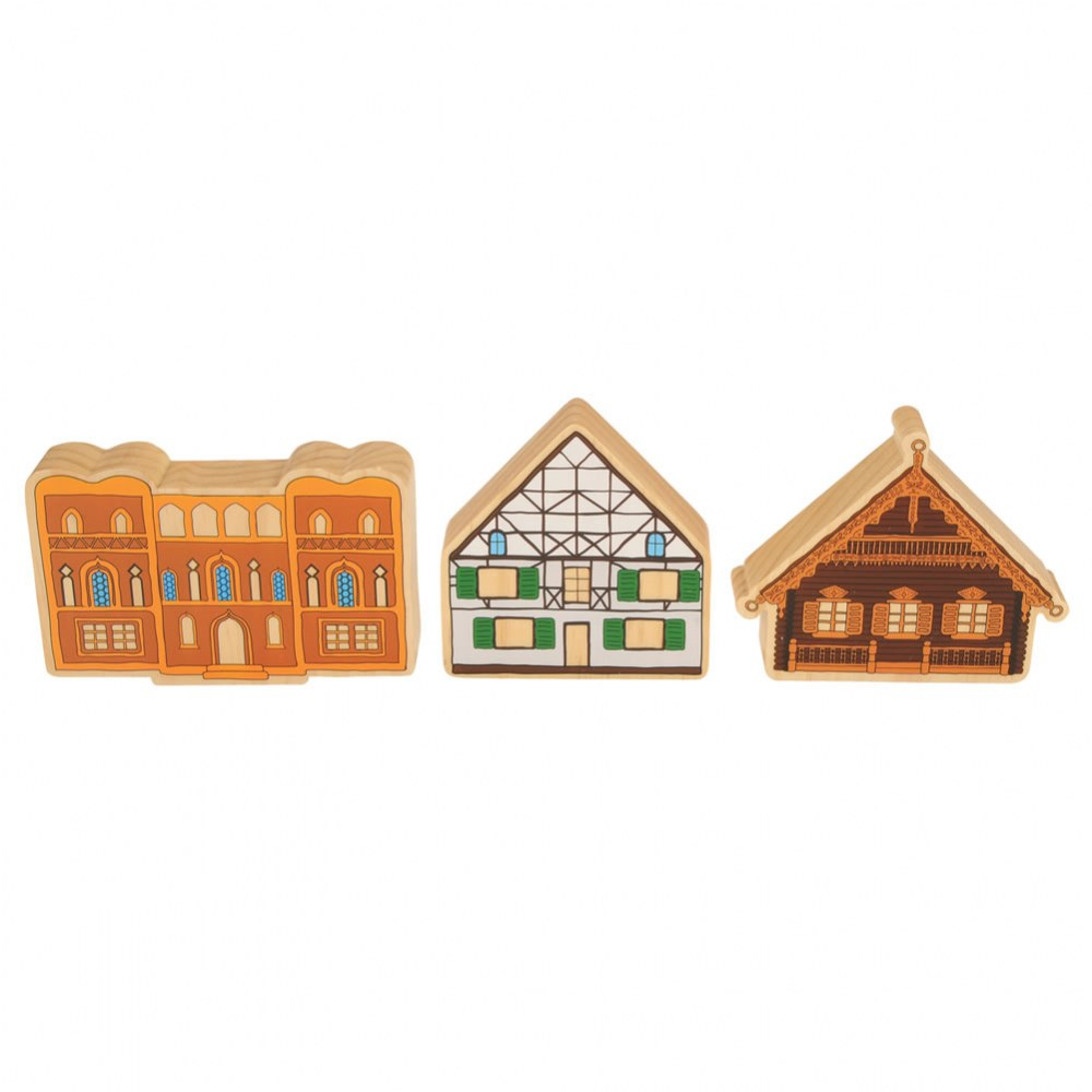 Alternate Image #5 of Homes Around the World Wooden Blocks - Set of 15