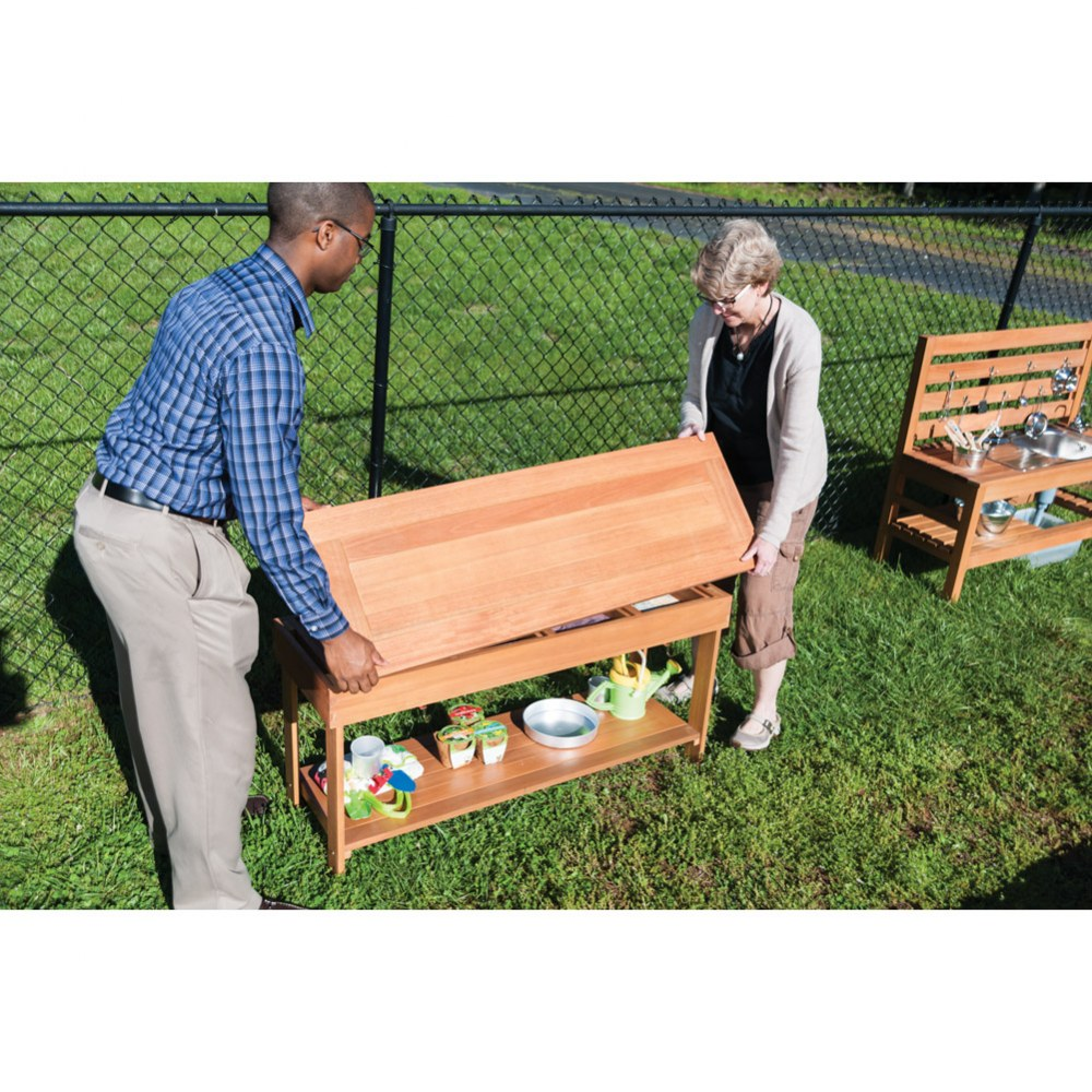 Alternate Image #5 of Outdoor Sorting Table with Lid