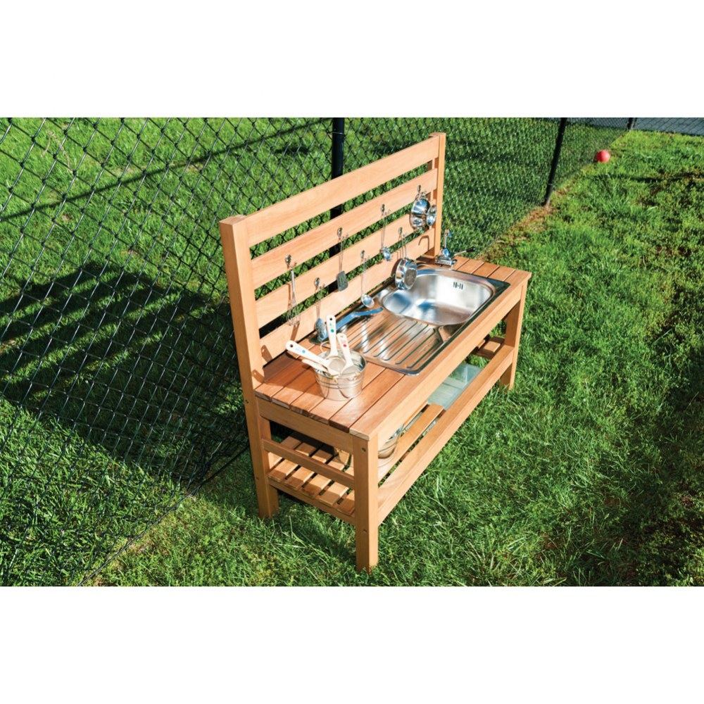 Alternate Image #2 of Outdoor Mud Kitchen with Pump